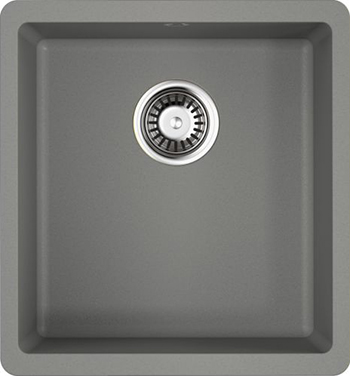 Кухонная мойка OMOIKIRI Kata 40-U-GR Artgranit/Leningrad Grey (4993397) смеситель для кухни omoikiri yamada gr leningrad grey 4994261