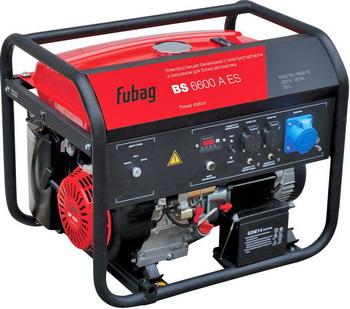Электрический генератор и электростанция FUBAG BS 6600 A ES шуруповерт электрический fit es 321