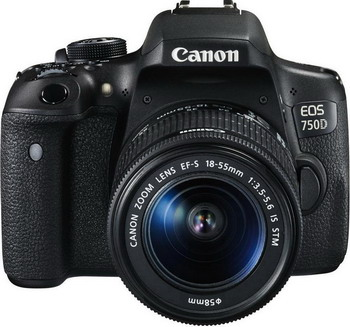 Цифровой фотоаппарат Canon EOS 750 D EF-S 18-55 IS STM Kit фотоаппарат canon eos 200d kit ef s 18 55 mm f 4 5 6 is stm black