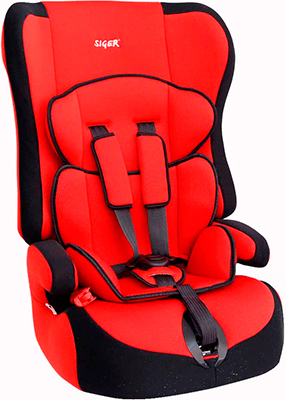 Автокресло Siger Прайм красный 9-36 кг
