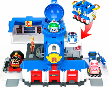 Игровой набор Robocar Poli Штабквартира 2.0 набор игровой для мальчика poli средний трек с умной машинкой