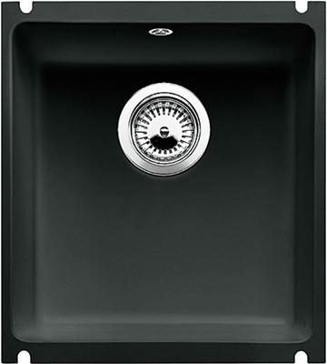 Кухонная мойка BLANCO 523732 SUBLINE 375-U керамика черный PuraPlus с отв.арм. InFino кухонная мойка blanco 523738 subline 500 u керамика серый алюминий puraplus с отв арм infino