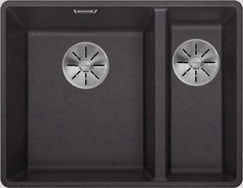 Кухонная мойка BLANCO SUBLINE 340/160-F антрацит с отв.арм. InFino 523568 мойка subline 400 f jasmine 519800 blanco