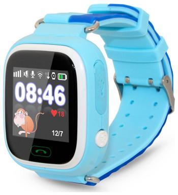 Детские часы-телефон Ginzzu 505 blue 1.22'' Touch micro-SIM 14619 детские часы с gps поиском ginzzu gz 521 brown 1 44 touch nano sim 16834