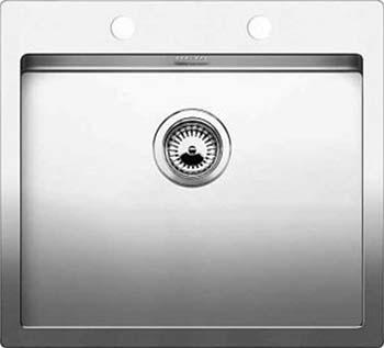 Кухонная мойка BLANCO CLARON 550-IF/А нерж. сталь зеркальная полировка 521639 blanco claron 550 u нерж сталь зеркальная
