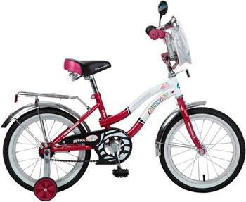 Велосипед Novatrack 16 Зебра  бордово/белый 165 ZEBRA.CLR6 велосипед novatrack a формула 16 2016 сине белый 167formula bl6