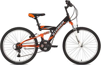 Велосипед Stinger 24'' Banzai 16 5'' черный 24 SFV.BANZAI.16 BK7 stinger banzai 18 2016 х72830 к blue red