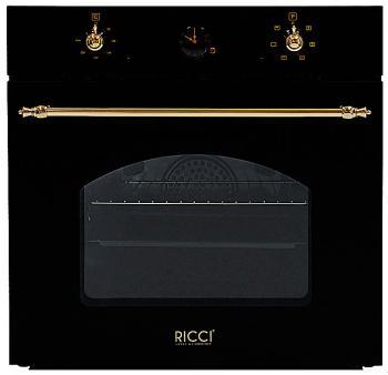 Встраиваемый электрический духовой шкаф Ricci REO 630 BL встраиваемый электрический духовой шкаф smeg sf 6922 npze1