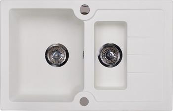 Кухонная мойка Kuppersberg MODENA 1 5B1D WHITE ALABASTER (7041)