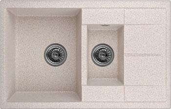 Кухонная мойка Weissgauff QUADRO 775 K Eco Granit песочный  weissgauff quadro 420 eco granit графит