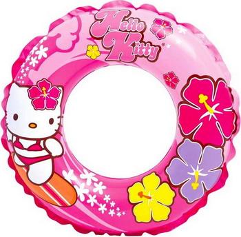 Надувной круг Intex Hello Kitty 61 см 56210 надувной мяч intex hello kitty 51 см