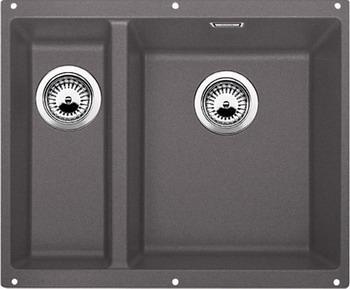 Кухонная мойка BLANCO SUBLINE 340/160-U SILGRANIT темная скала (чаша справа)