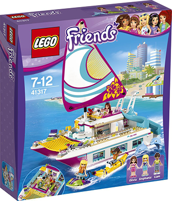 Конструктор Lego Friends Катамаран ''Саншайн'' 41317 489pcs friends heartlake high performance school stephanie 10166 model building blocks princess toys bricks compatible with lego