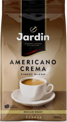 Кофе зерновой Jardin Americano Crema 1кг jardin americano crema кофе молотый 250 г