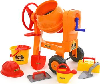Набор каменщика Wader Бетономешалка ''Construct'' №7 (8 элементов) 50649_PLS бетономешалка wader super truck 58 5 см разноцветный 36590