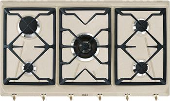 Встраиваемая газовая варочная панель Smeg SRV 896 AVOGH2 встраиваемая электрическая варочная панель smeg si 5633 b
