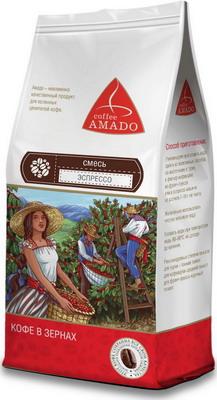 Кофе зерновой Amado Эспрессо (смесь) 0 5 кг кофе зерновой amado венская обжарка смесь 0 5 кг