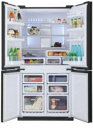 Многокамерный холодильник Sharp SJ-FS 97 VBK холодильник sharp sj gf60ar