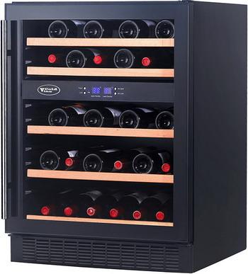Встраиваемый винный шкаф Cold Vine C 44-KBT2 черный винный шкаф cold vine c 34 kbf2 черный