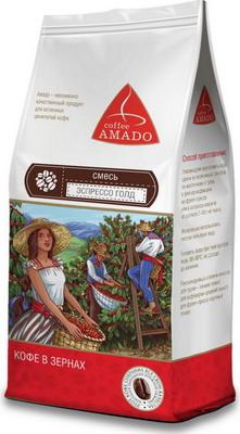 Кофе зерновой Amado Эспрессо ГОЛД (смесь) 0 5 кг кофе зерновой amado венская обжарка смесь 0 5 кг