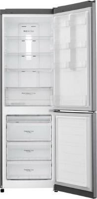 Двухкамерный холодильник LG GA-B 429 SAQZ холодильник lg ga b429smcz silver