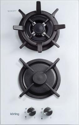 Встраиваемая газовая варочная панель Korting HGG 382 CTW варочная поверхность korting hgg 382 ctw