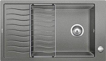 Кухонная мойка BLANCO ELON XL 8 S алюметаллик мойка кухонная blanco elon xl 6 s шампань с клапаном автоматом 518741
