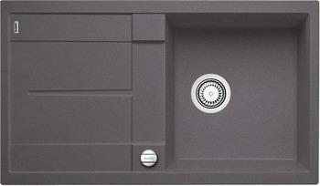 Кухонная мойка BLANCO METRA 5 S-F темная скала с клапаном-автоматом кухонная мойка blanco metra 45 s silgranit темная скала с клапаном автоматом