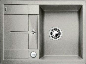 Кухонная мойка BLANCO METRA 45 S COMPACT SILGRANIT жемчужный с клапаном-автоматом мойка кухонная blanco metra 6 s compact silgranit puradur жемчужный с клапаном автоматом 520576