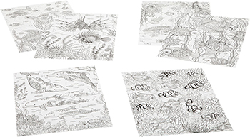 Набор для раскрашивания Bondibon Набор раскрасок антистресс Море 6 листов 30х21 см ВВ1715 книга раскрасок антистресс bondibon лес вв1716
