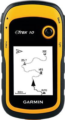 Навигатор Garmin Etrex 10 GPS Глонасс Russia (желтый) цена и фото