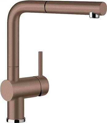 Кухонный смеситель BLANCO LINUS-S SILGRANIT мускат смеситель для кухни blanco linus silgranit серый беж 517622