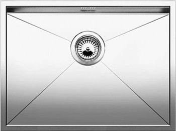 Кухонная мойка BLANCO ZEROX 500-U нерж. сталь зеркальная полировка без клапана авт 521589 blanco elipso s ii нерж сталь зеркальная