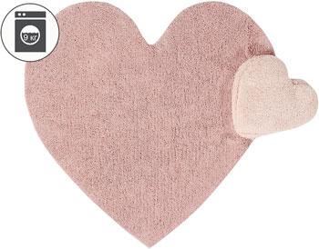 Ковер Lorena Canals сердце с подушкой (розовое) 160*180 C-PUFFY-LOVE preparing curved root canals