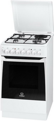 Комбинированная плита Indesit KN 1M 117 S(W)/RU цены онлайн