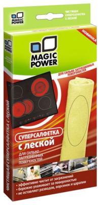 Супер-салфетка из микрофибры с леской Magic Power MP-508 супер салфетка из микрофибры с леской magic power mp 508