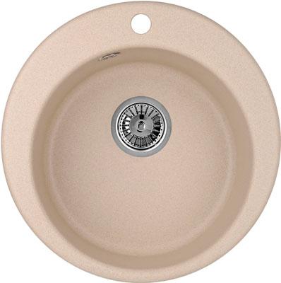 Кухонная мойка Weissgauff RONDO 480 Eco Granit бежевый  weissgauff atlas granit светло бежевый