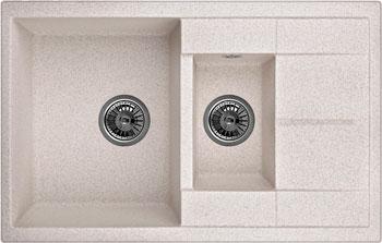 Кухонная мойка Weissgauff QUADRO 775 K Eco Granit светло-бежевый  weissgauff corner 890 eco granit светло бежевый