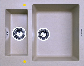 Кухонная мойка Zigmund amp Shtain RECHTECK 600.2 млечный путь