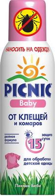 Средство от комаров и/или клещей детское Picnic BABY 125 мл picnic жидкость от комаров 45 ночей picnic baby