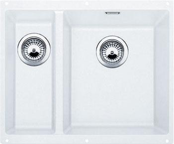 Кухонная мойка BLANCO SUBLINE 340/160-U SILGRANIT белый мойка blanco classik 9e silgranit 521342 шампань