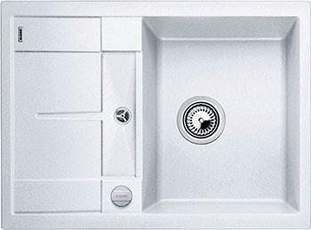 Кухонная мойка BLANCO METRA 45 S COMPACT SILGRANIT белый с клапаном-автоматом кухонная мойка blanco metra 5 s silgranit серый беж с клапаном автоматом
