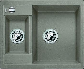 Кухонная мойка BLANCO METRA 6 SILGRANIT серый беж с клапаном-автоматом мойка blanco classik 45s silgranit 521308 антрацит