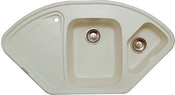Кухонная мойка LAVA A.3 (LATTE белый) кухонная мойка lava a 2 latte белый