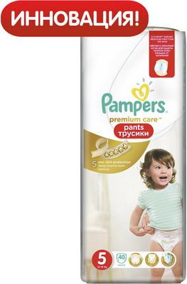 Трусики-подгузники Pampers Premium Care Pants Junior (12-18 кг) ЭкономУпаковка 40 шт подгузники pampers premium care new baby 2 4 8 кг 160 шт