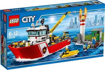 Конструктор Lego City Пожарный катер 60109 конструктор lego city 60107 пожарный автомобиль с лестницей