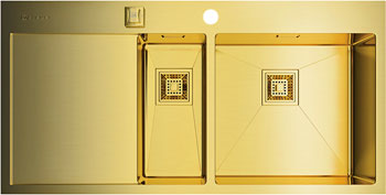 Кухонная мойка OMOIKIRI Akisame 100-2-LG-R (4993090) кухонная мойка ukinox gal 737 gw r
