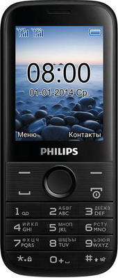 Мобильный телефон Philips Xenium E 160 черный мобильный телефон philips e560 xenium black