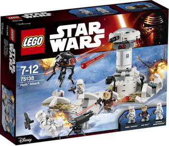 Конструктор Lego STAR WARS Нападение на Хот 75138 конструктор lego star wars боевой набор планеты татуин 75198