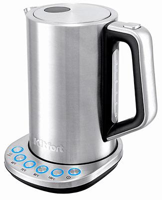 Чайник электрический Kitfort КТ-621 чайник kitchenaid kten20sbob чёрный 1 9 л нержавеющая сталь